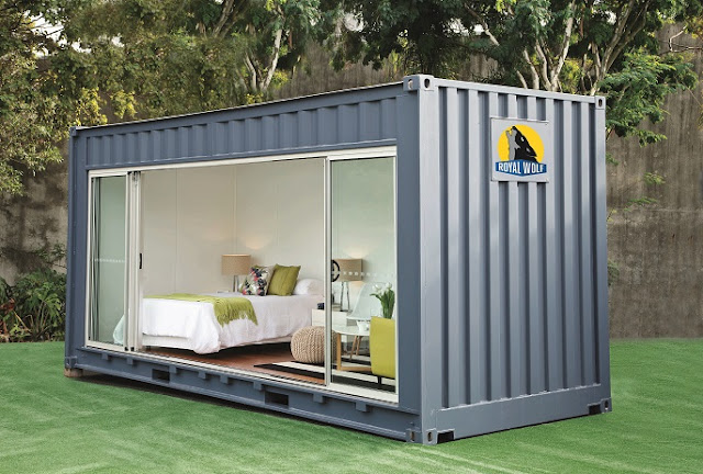 20 foot Shipping Container Outdoor Room by Royal Wolf 3