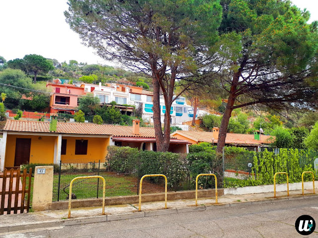 Sardinian houses near the road, driving | Sardinia, Italy | wayamaya