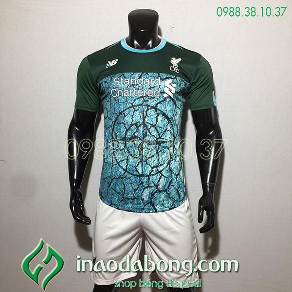 Áo bóng đá câu lạc bộ Liverpool màu xanh 2020