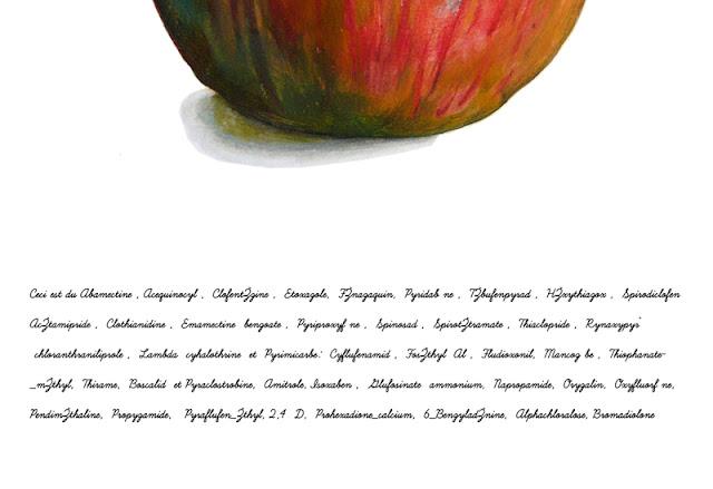 Détail montrant la liste des produits phytosanitaires