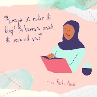alasan nyaman menulis di blog