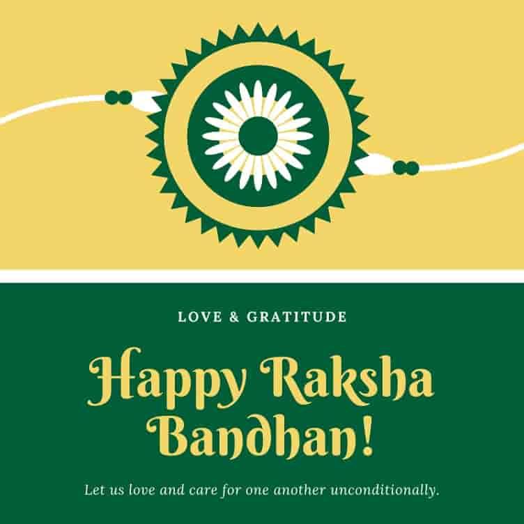 raksha bandhan wishes card