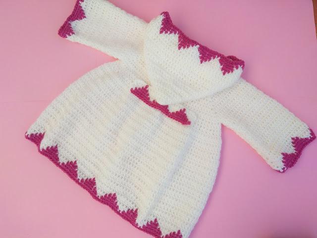 1 - Crochet Imagen Abrigo con capucha crochet parte 2 y ganchillo Majovel Crochet bareta puntada punto sencillo facil DIY canesu manga
