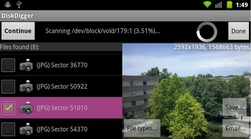 شرح تطبيق الديسك ديجر وكيفية استرجاع جميع الملفات المحزوفة DiskDigger