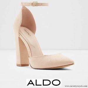 Kate Middleton wore Aldo Nicholes Bone Block Heel shoes