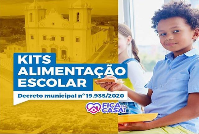 Prefeitura de Nossa Senhora do Socorro anuncia Kit Alimentação Escolar