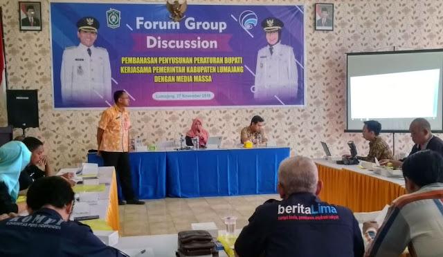 FGD membahas draf Perbup kerjasama dengan media massa