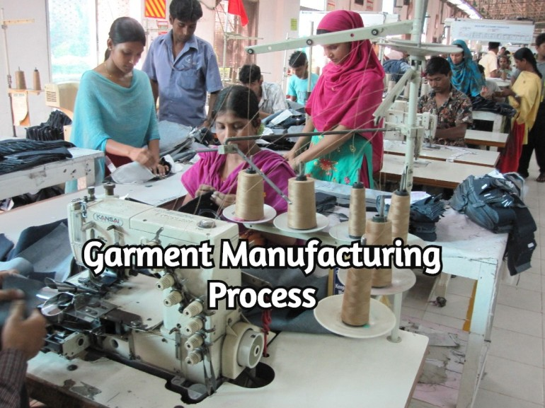 Process Flow Chart Of Garmets Manufacturing