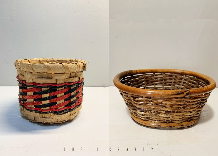 What to do with ugly thrift store baskets