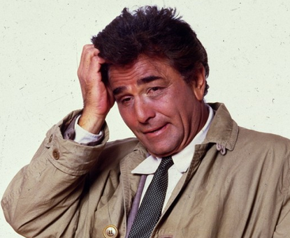 Columbo via the toast
