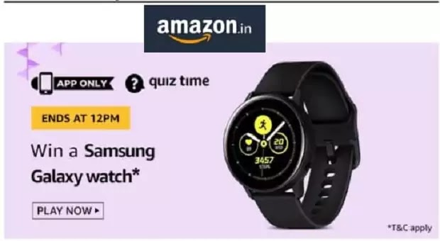 Amazon Daily Quiz Answers Today 21 March 2020 & Win Samsung Galaxy Watch