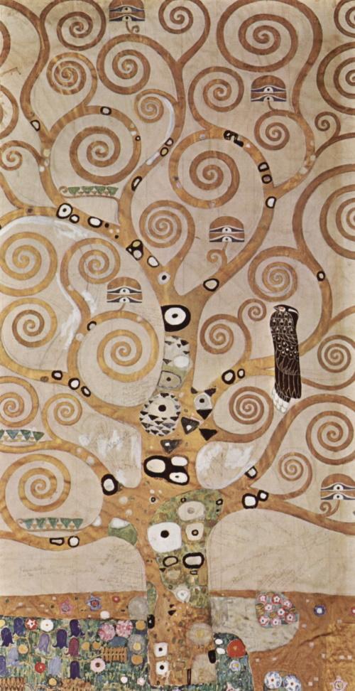 Árvore da vida, pintura de Gustav Klimt. #PraCegoVer
