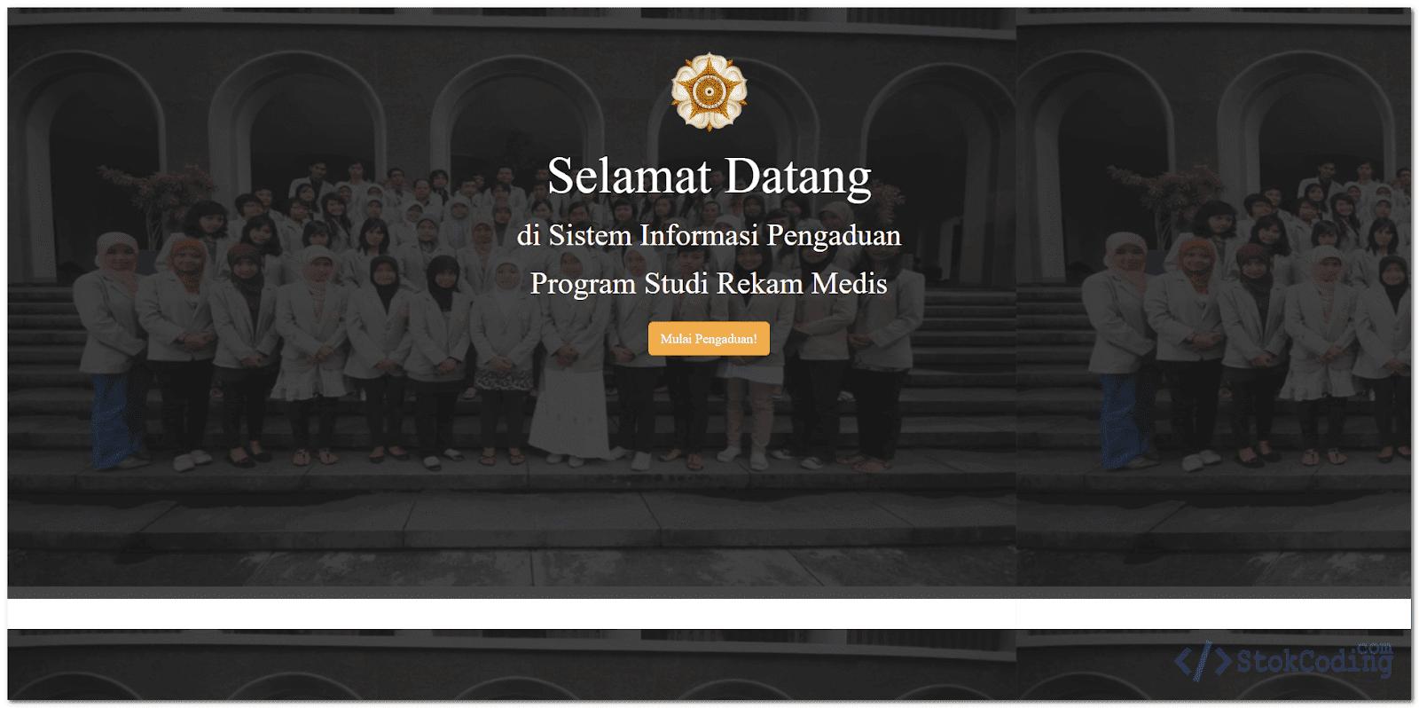 Sistem Informasi Pengaduan Kampus (Codeigniter)