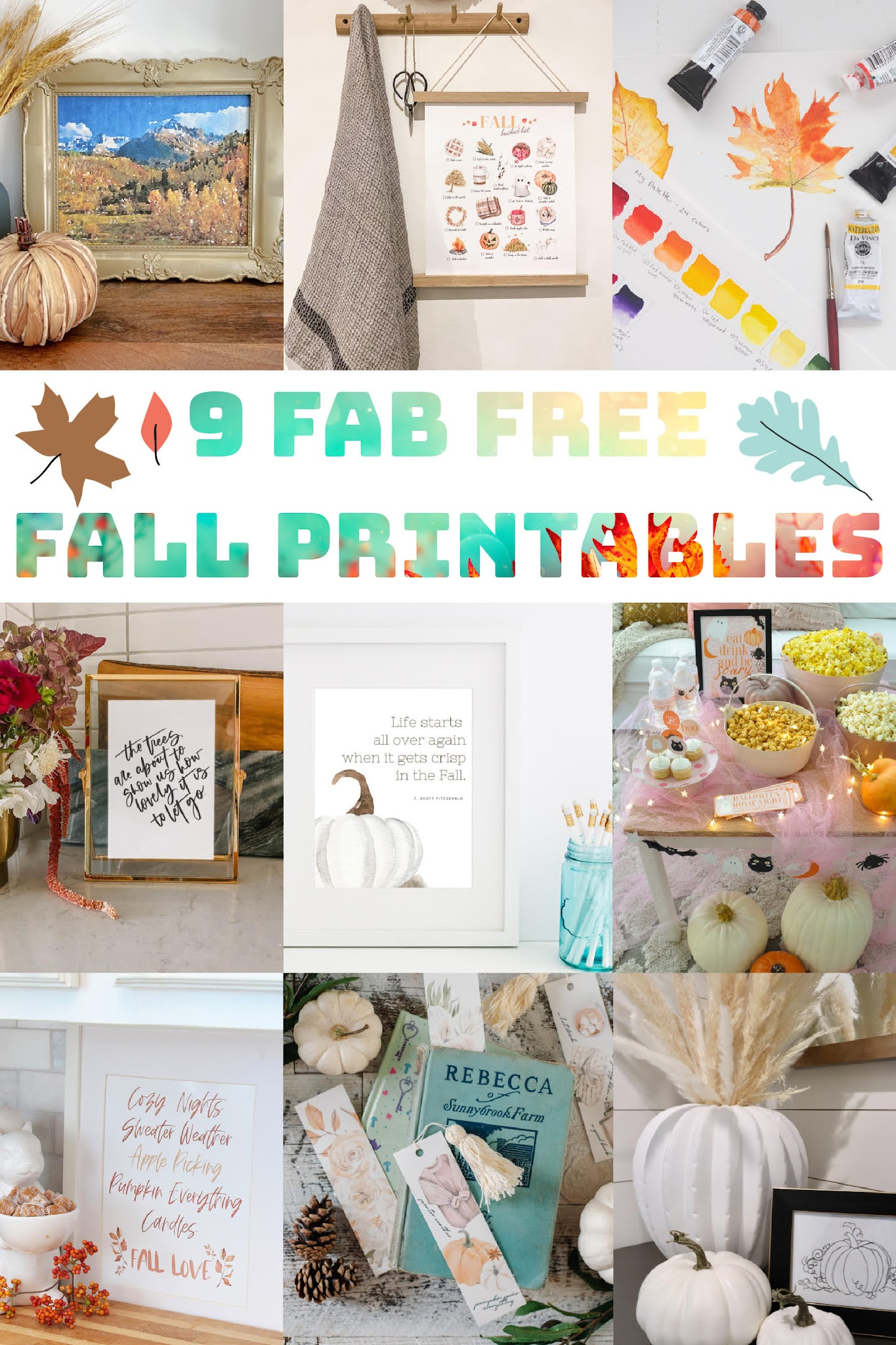 free fall printables, fall printable art