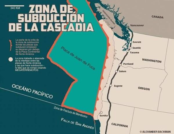 URGENTE: Reportan Enjambre Sismico En La Isla Vancouver , Este Enjambre Sismico Puede Provocar La activación De La Falla de La Cascadia.