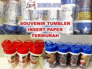 Jual Tumbler insert paper custom untuk souvenir, ulang tahun dan promosi Termurah