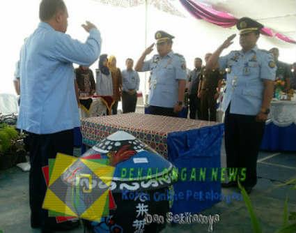 Naik Jabatan, KA Rutan Pekalongan Kelas IIA Tempati Pos Baru Di Lapas Kelas I Makassar