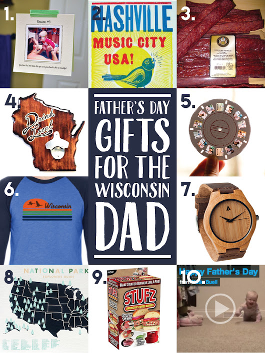 FATHER'S DAY GIFTS FOR THE WISCONSIN DAD