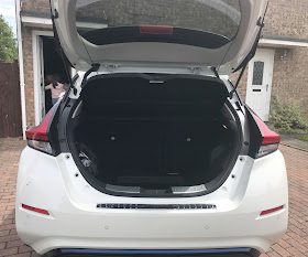 Inside the Nissan Leaf boot