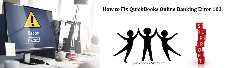 Quick & Effective Medium to Eradicate QuickBooks Online Banking Error 103