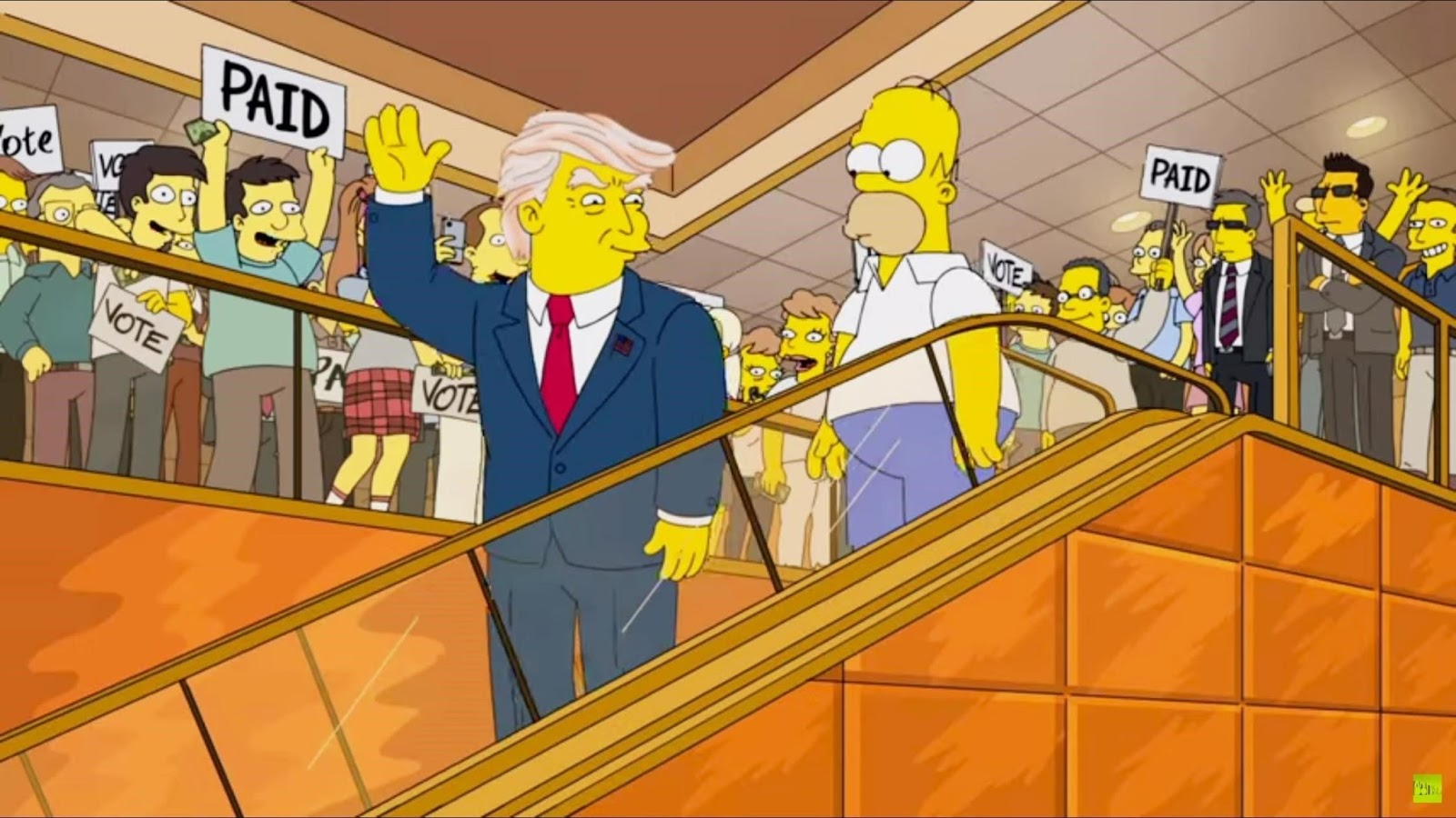donald trump president in the simpsons
