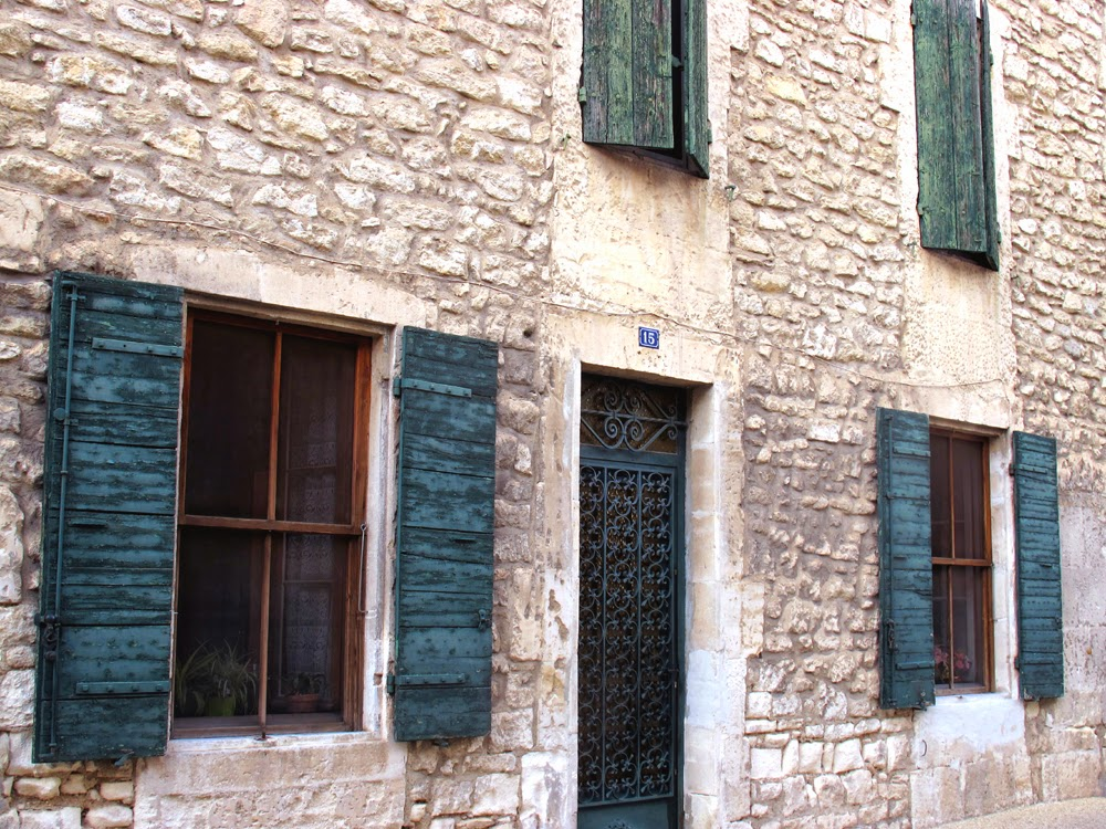 Shabby chic Provencal shutters