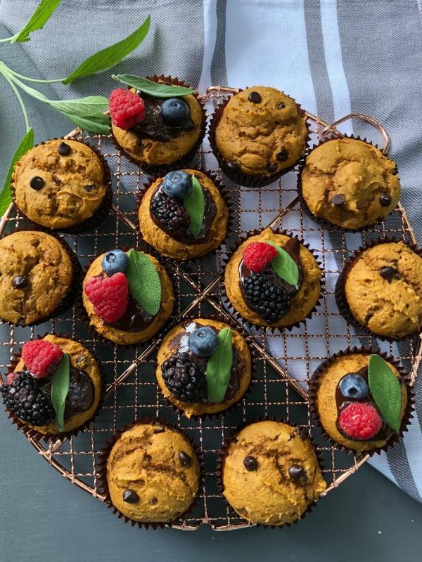 Spice Cake mix pumpkin muffins