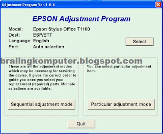 How To Reset Printer Epson T1100 Service Required