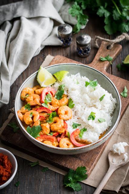 Curry de crevettes thaï facile