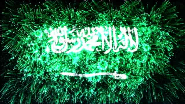 Firework Shows in Saudi Arabia on 89th Saudi National Day