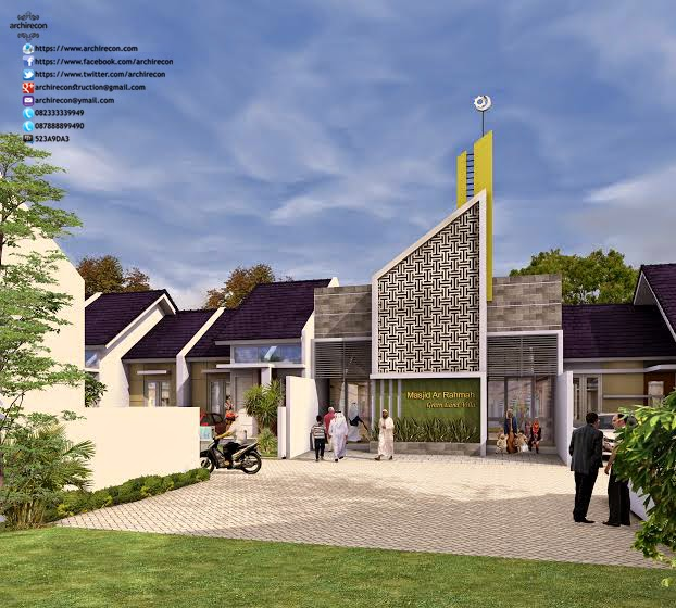 Hasil Jasa Desain Rumah Minimalis - Perumahan Green Land Villa - Mushola