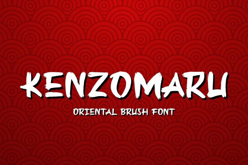 Kenzomaru Font - Free Oriental Script Typeface