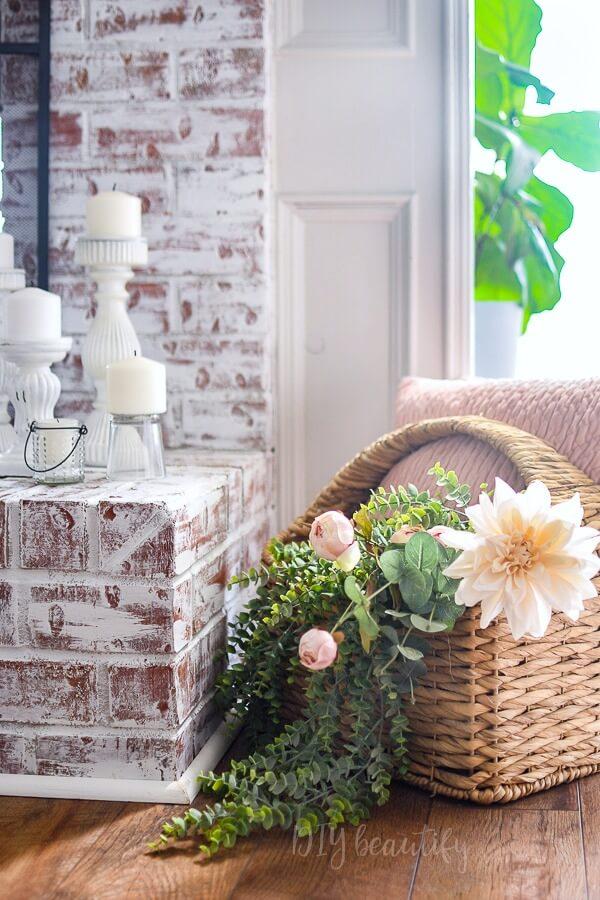 basket filled with florals