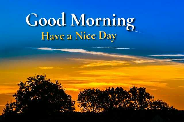 Beautiful good morning image of nature sunrise have a nice day