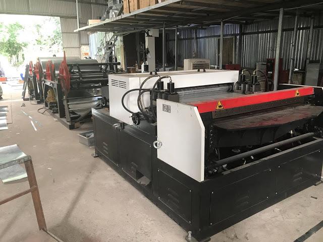 máy sản xuất ống gió tự động 3 line