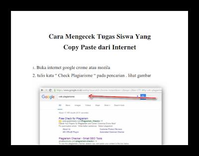Cara Mengetahui Tugas Siswa Yang Copy Paste Dari Internet