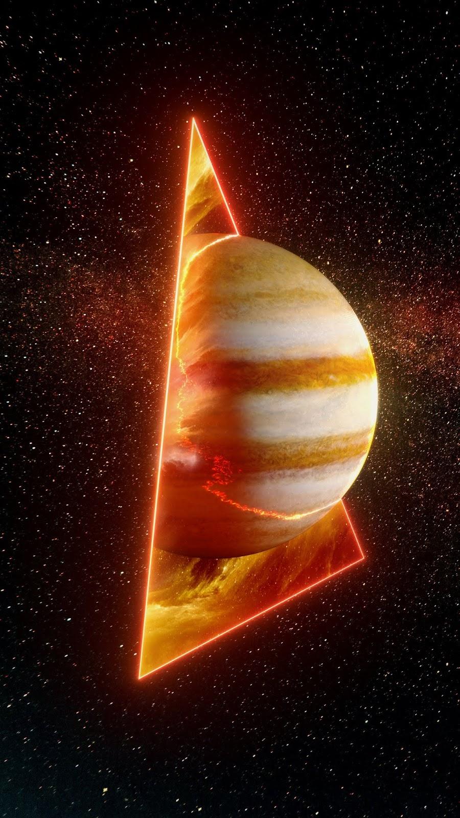Hành tinh giữa tam giác không gian