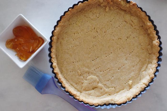 prebaked tart shell and apple jelly