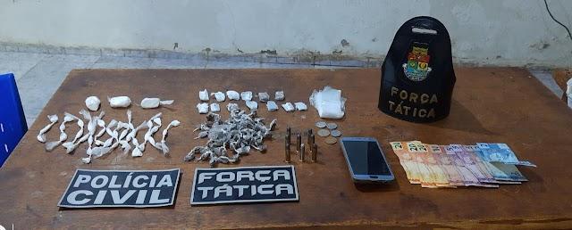 Força Tática e Polícia Civil realizam operação contra tráfico de drogas em Ipu