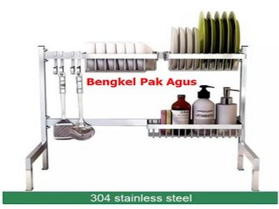 Tips Memilih Rak Piring Stainless Steel di Atas Wastafel dan Cara Merawatnya