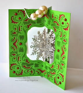 Image result for create a card christmas present die
