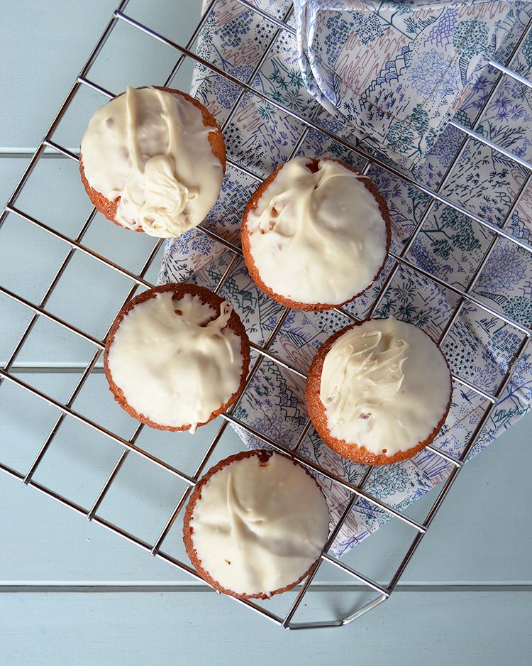 Muffins de limón y chocolate blanco