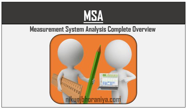 MSA  Measurement System Analysis  Tutorial  Examples