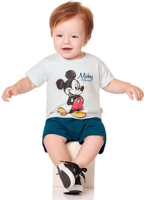 conjunto bebe menino mickey