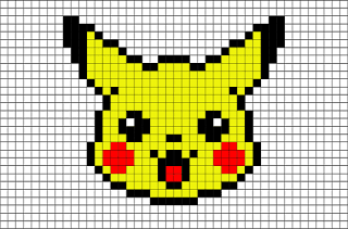 Coloriage Pikachu Pixel Art