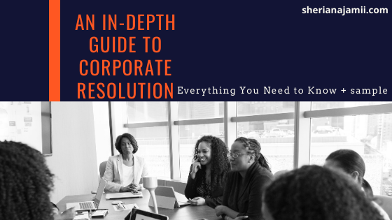 An In-Depth Guide to Corporate resolution:  Everything You Need to Know + sample