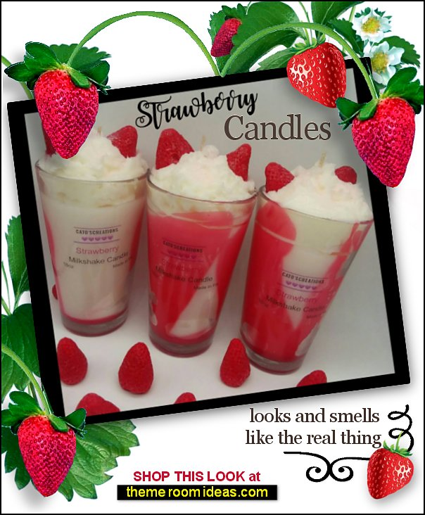 candles candle Strawberry Delight candles, dessert candle, home decor Novelty Candle, Candle decoration