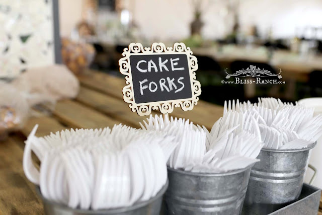Rustic Wedding Cake Forks, Bliss-Ranch.com
