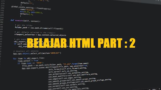 tutorial belajar html