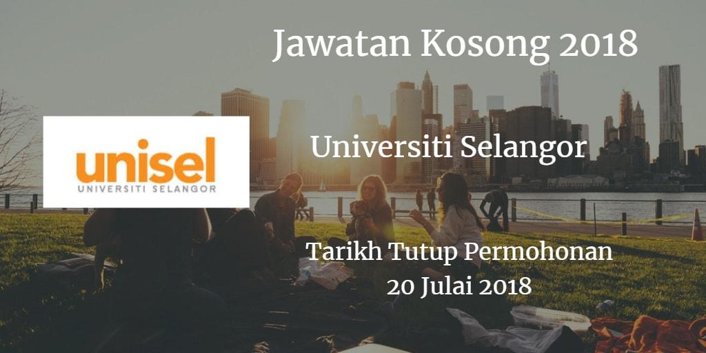 Jawatan Kosong UNISEL 20 Julai 2018